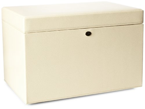 WOLF 315053 London Large Jewelry Box, Cream