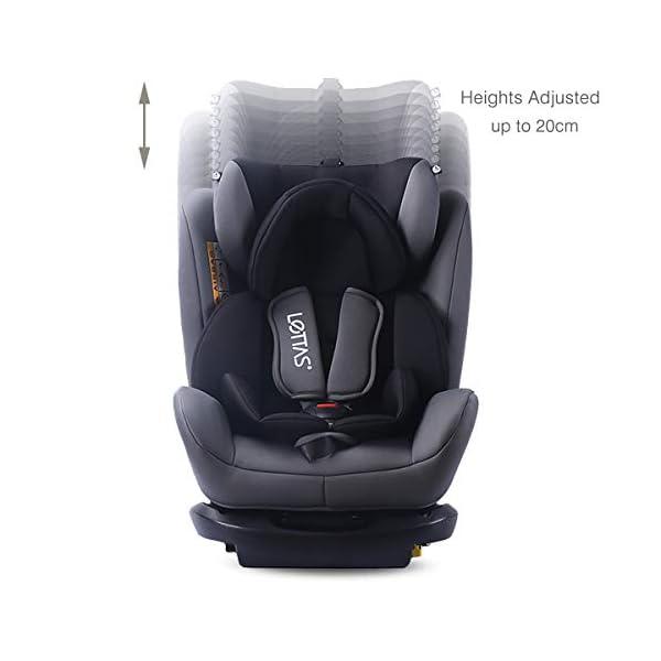 LETTAS Seggiolino auto gruppo 0+1/2/3 Fascia d'età: Bambini da 0 mesi a 12 anni - da 0 a 36 kg,reclinabile 4 posizioni… 4 spesavip