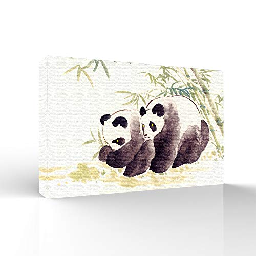 Panda with Bamboo Painting for Bedroom Living Room