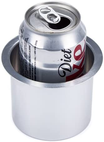 Silver 10-Pack Jumbo Aluminum Drop-In Cup Holders
