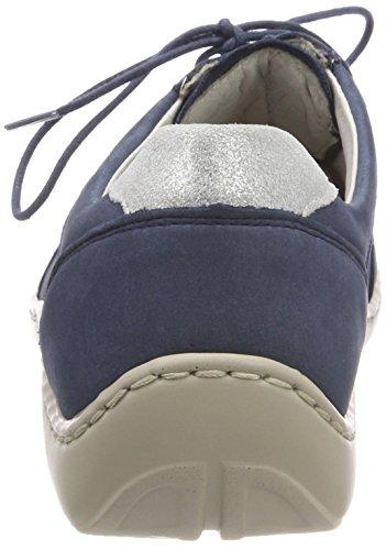 Silber Denver Jeans Derby Glitter 206 Blu Stringate Scarpe Henni Donna ufer Waldl wv0BUU