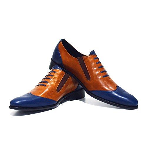 Modello Massimo - Cuero Italiano Hecho A Mano Hombre Piel Marrón Mocasines y Slip-Ons Loafers - Cuero Cuero suave - Ponerse