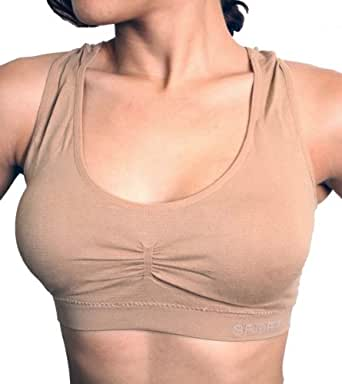Dona Michi Women's New Racerback Sports Bra Yoga Exercise Walk with Removable Pad