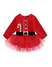 Fairy Baby Toddler Baby Girls Christmas Outfit Clothes Tulle Fluffy Princess Dress