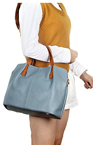 for Crossbody Bags Summer Gray Genuine Chick Cherry Travel Handbag Light Shoulder Oyster Color Bag Girl's Soft Ultra Leather Bag Weight Women Scarlet fz10qn