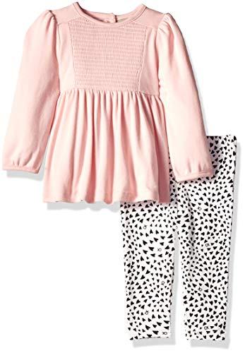 - Calvin Klein Baby Girls 2 Pieces Tunic Legging Set, Pink, 12M