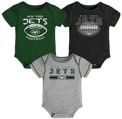 A-Team Apparel New York Jets Baby 3 Piece Creeper Set 0//3 Month