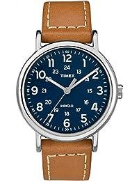 Timex - Reloj semanal para hombre, 40 mm, Bronceado/Azul, Una talla