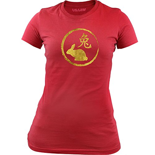 ese Zodiac Rabbit T-Shirt (Small, Red) (1999 Rabbit)