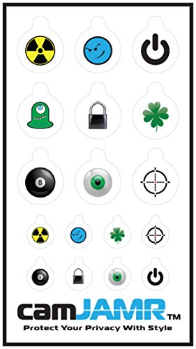 Webcam Cover / Stickers for Online Privacy. Fits Laptop, Tablet, Cell Phone, Smart Tv, Xbox and More! camJAMR Action Pack (Includes 12 Webcam Covers)
