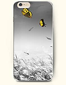 OFFIT iPhone 6 Plus Case 5.5 Inches Flying Butterfly and Dragonflies