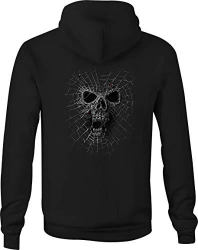 Zip Up Hoodie Halloween Skeleton Hooded Sweatshirt for Men - 2XL Black]()