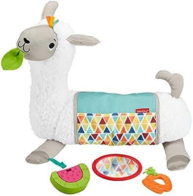 Fisher-Price- Llama Crece Conmigo, Cojín Juguete Sensorial para Bebé Recién Nacido, Multicolor (Mattel GLK39)
