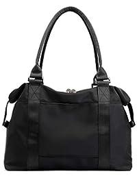 Carry On Luggage Bag Sports Gym Bag Travel Duffel Bag, Black
