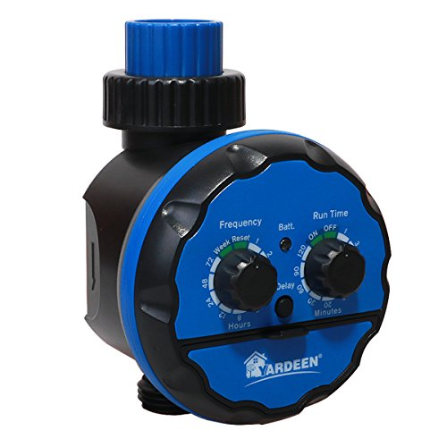 Wireless Faucet Controller - Yardeen Electronic Water Timer Irrigation System Waterproof Rain Delay Function Color Blue