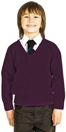 CKL Maglione a maglia con scollo a V in misto lana per ragazzi