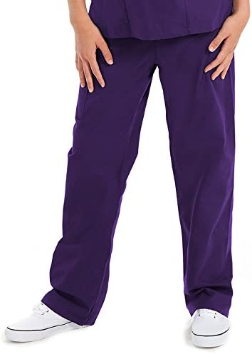 Prestige Medical 401-GRP-5X-Large Premium Five Pocket Unisex Scrub Pant, Grape, 5X-Large