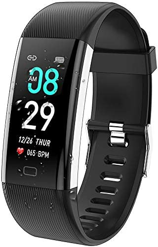 ANCwear Fitness Tracker Watch, F07 Activity Tracker Health Exercise Watch with Heart Rate Monitor Waterproof IP68 Smart Fitness Band with Sleep Monitor, Step counter Pedometer Watch for Men Women Kids 1
