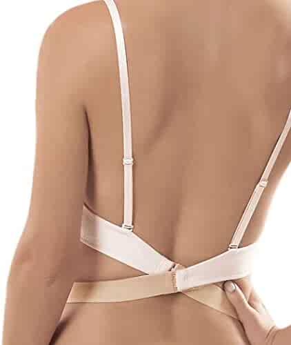 548f6cbc119 JUST BEHAVIOR Low Back Bra Converter Adjustable Strap Extender for Backless  Dress