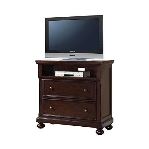 ACME Grayson Dark Walnut TV Console (Dovetail A-drawer Dvd)