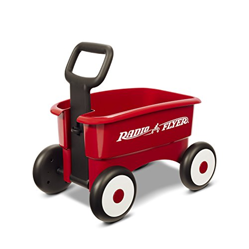 Radio Flyer My 1st 2-in-1 WAGON Ride On, Red (Radio Flyer Storage Plastic)