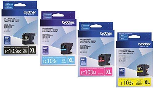 Brother Printer LC103 Cartridge Black Cyan Magenta Yellow