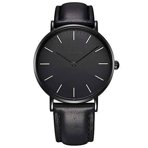 IK Colouring Fashion Minimalist All Black Ladies Wrist Watch Japan Quartz 7.3mm thin C@@L