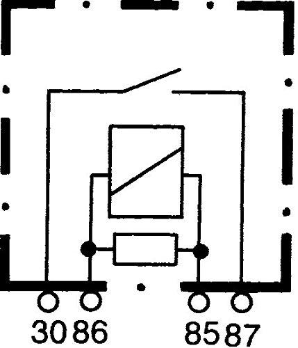 Corrente di lavoro 12V con resistenza con supporto HELLA 4RA 007 793-041 Rel/è