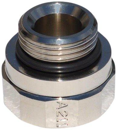 EZ (A-211) Silver 27mm-2.0 Thread Size Oil Drain Valve Adapter EZ Oil Drain Valve