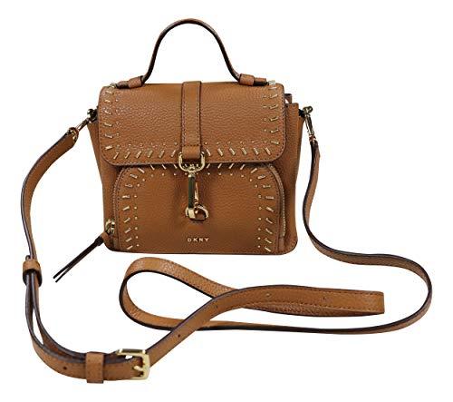 (DKNY Paris Genuine Leather Studded Crossbody Purse (Driftwood))