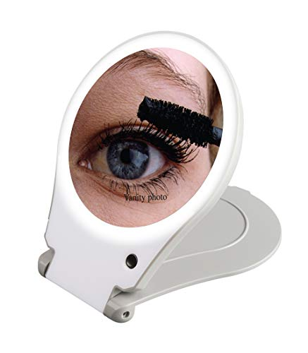 Floxite Circle Lite Vanity and Travel 10x Magnifying Mirror