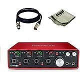 Focusrite Scarlett 8i8 USB Audio Interface with XLR Cables and Bajaao Polishing Cloth (FOCUSRITESCARLETT2I2II)