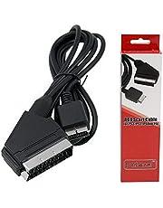 Gam3Gear Mcbazel RGB Scart Kabel AV Kabel mit Farbbox für PS3 / PS2 / PSOne PAL (Nicht für HDMI)