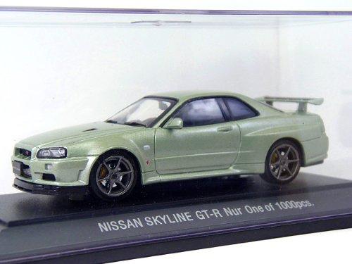 1/43 NISSAN SKYLINE GT-R R34 V-SPECII Nur MILLENIUM(ライトグリーン) 369