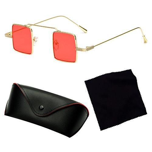 resina sol cuadrada Hombre Gafas Sombras metal de C6 y para montura con Juleya al aire mujer libre qx5v5RH