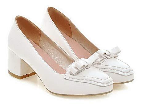 FBUIDD006310 Tonda Tirare Donna Bianco Punta Ballet Puro Flats AllhqFashion xqpaHw1Sx