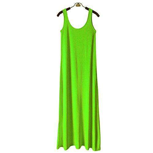 Doux bretelle long Dbardeur respirant confortable Fluorescent robe rouge top modal manches femme robe et Rose Hoverwin Vert sans sexy longues ete Tank minceur wzZIqnx4