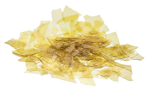 Dewaxed Blonde Shellac Flakes 1 Lb, or 16 Oz by WellerMart