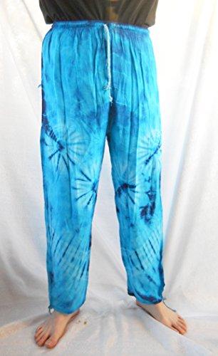 Tie Dyed Hippie Yoga Pants Blue -