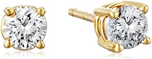 14K Gold Diamond Stud Earrings (K-L Color, I1-I2 Clarity)
