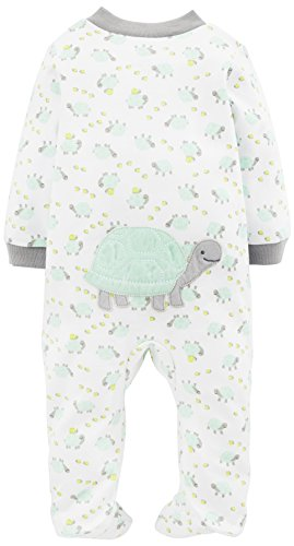 Simple Joys by Carter's Baby Neutral 2-Pack Cotton Footed Sleep and Play, Bear/Turtle, 6-9 Months by Simple Joys by Carter's (Image #2)
