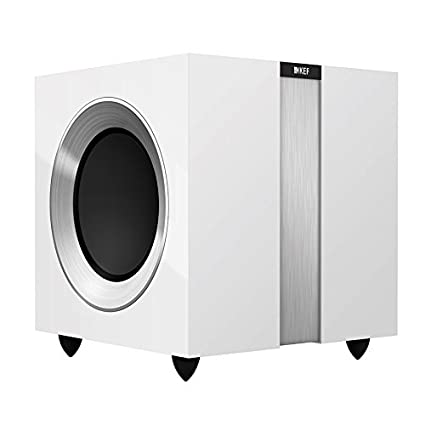 KEF R400GW R400b Front Firing Powerful Subwoofer - Gloss White (Single)