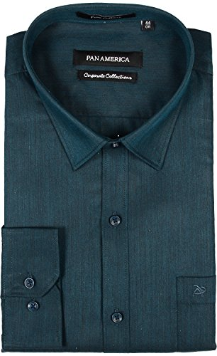 PAN AMERICA Men's Cotton Formal Shirt (cs590322kqb150011, Green Tint, X-Large)