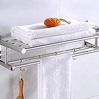 Soporte para Toallas de baño Organizador de baño Estante de Toalla montado en la Pared de Acero Inoxidable Estante de la Pared del Hotel casero Accesorio de ...