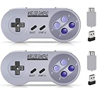 Wireless Controller for SNES Classic Edition/NES Classic Edition, Gamepad with USB Wireless Receiver Can Play with…