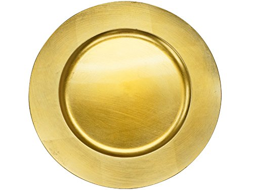 (BalsaCircle 24 pcs 13-Inch Gold Acrylic Round Charger Plates - Dinner Chargers Wedding Party Supplies for all Holidays)