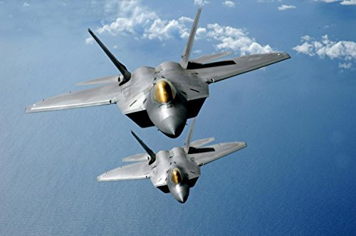 Gifts Delight Laminated 36x24 Poster: U.S. Military F-22 Jet