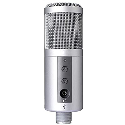 LIUGUANJIANG Condenser microphone live recording microphone silver...