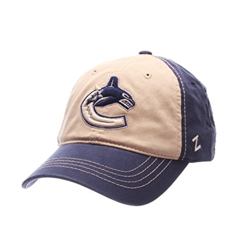 NHL Vancouver Canucks Men's Sigma Relaxed Cap, Adjustable, Royal/Stone