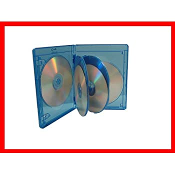 6 Tray New 1 VIVA ELITE Blu-Ray Replace Case Holds 6 Discs 15mm Storage Box